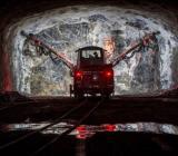 Arbete i en av Stockholms VA-tunnlar. Foto: YIT