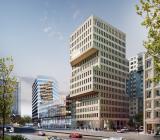 Illustration över den blivande kontorsfastigheten Brick Studios i centrala Göteborg. Illustration: NCC