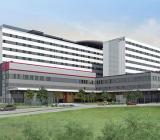 Illustration av Uleåborgs nya sjukhus. Illustration: Caverion