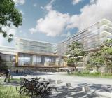 Nya Universitetssjukhuset i Aalborg. Illustration: Konsortium Indigo