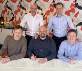 Christian Björnstolpe, Johan Larsson, Mikael Vinkler, Gustaf Larsson Ernefelt och Mikael Hygrell. Foto: Instalco