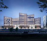 Illustration över Malmös nya domstolsbyggnad som ska stå klar 2022. Illustration: Castellum