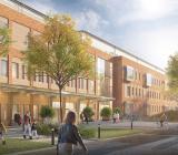 Illustration över nya Högsbo specialistsjukhus. Illustration: Skanska