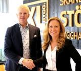 Tomas Fritzon, vd Bolist AB och Karin Eriksson vd XL-BYGG AB. Foto: XL-Bygg