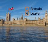 Londons skyline med Brexitförtecken. Foto: Colourbox