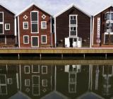 Hudiksvalls välkända hamnområde. Foto: Colourbox