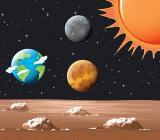 Skilda världar i solsystemet. Illustration: Colourbox