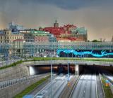 Göteborgssilhuett med Götatunneln. Foto: Colourbox