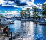 Trosa Hamn i sydvästra Sörmland. Foto: Colourbox
