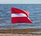 Lettiska flaggan. Foto: Colourbox