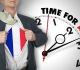 Fransk affärsman träder fram i förändringssituation. Foto: Colourbox