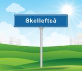 Ortsskylt för Skellefteå. Illustration: Colourbox