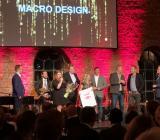Prisutdelningen vid Comforts bankett 2018, där Macro Design för tredje året i följd utsågs till Årets direktleverantör. Foto: Macro Design