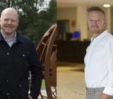 Marcus Björk divisonschef Infra och Dan-Erik Danielsson marknadchef Infra. Foto: Elektroskandia