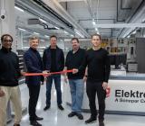 VD Anders Nordlöw inviger Elektroskandias ny butik i Bromma. På bilden fr.vänster: Ahmed Tevris, Inne/Butikssäljare, Anders Nordlöw, VD, Ove Hallingstam, Säljchef, Joakim Liljedahl, Butiksansvarig, Lukas Tisjö, Inne/Butikssäljare. Foto: Elektroskandia