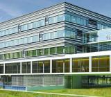 Nya byggnaden för matematik och naturvetenskap vid Heinrich  Heine-universitet i Düsseldorf. Illustration: Hascher Jehle