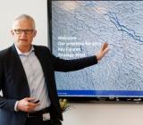 Grundfos koncernchef Mads Nipper vid presentationen av 2015 års siffror. Foto: Grundfos