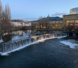 Centrala Norrköping med Motala Ström. Foto: Rolf Gabrielson