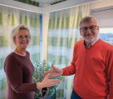 Kadesjös vd Birgitta Lindblad och Elkons vd Mats Melin är överens om förvärvet, som breddar Kadesjös erbjudande. Foto: Kadesjös