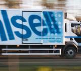 En Ahlsellmålad lastbil. Foto: Ahlsell