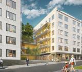 Besqabs projekt Liljeholmsblick i Stockholm ger 100 nya lägenheter från 2017. Illustration: Besqab
