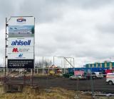 Ahlsells pågående byggnation av nya anläggningen i Linköping, på tomten intill den nuvarande anläggningen på Attorpsgatan i Tornby-området i Linköping. Foto: Ahlsell