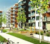 Skebos projekt Strömsör i Skellefteå. NCC bygger. Illustration: Arkinova Arkitekter