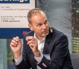 Nexans Sverige-vd Lars Josefsson under ett panelsamtal på Nexans Climate Day i Stockholm 21 september. Foto: Nexans