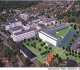 Illustration över Höglandssjukhuset i Eksjö. Illustration: White Arkitekter