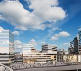 Fabegeprojektet Pyramiden i Arenastaden i Solna blir nytt kontor åt SEB. Illustration: Fabege