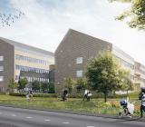 Assemblin installerar luftbehandling och sprinkler i den nya vårdbyggnad som NCC byggervid Länssjukhuset Ryhov i Jönköping. Illustration: White
