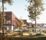Syddansk Universitet ny byggnad för hälsovetenskap Odense - SDU SUND. Illustration: Bravida
