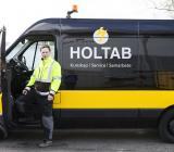 Servicebil från Holtab. Foto: Holtab