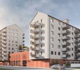 Illustration över projektet Södra Ribergsborg vid Ribersborgsstranden i Malmö. Illustration: Tornstaden/Brion