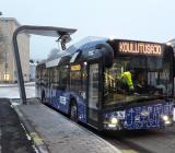 Elbuss i Tammerfors laddad med system från Ekoenergetyka. Foto: Ekoenergetyka