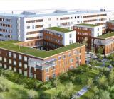 Tinnerbäckshuset med psykiatriska kliniken vid Linköpings Universitetssjukhus. Illustration: Sweco
