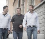 Kari Stehag, Per Hansson och Karl Stenqvist driver det nya multidisciplinära konceptet Veitech under byggjätten Veidekkes vingar. Foto: Veitech