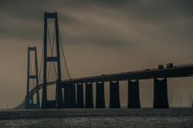 Stora Bält-bron i Danmark. Foto: Colourbox