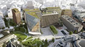 Visualisering av det nya regeringskvarteret i Oslo. Illustration: Team Urbis