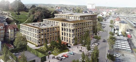 Udlændingestyrelsens nya kontorslokaler i danska Næstved. Illustration: A. Enggaard / AART architects