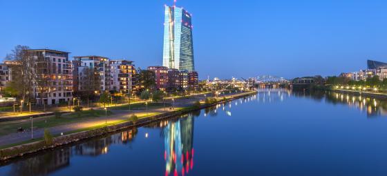 Den Europeiska Centralbankens, ECB:s, huvudkontor i Frankfurt am Main. Foto: Colourbox