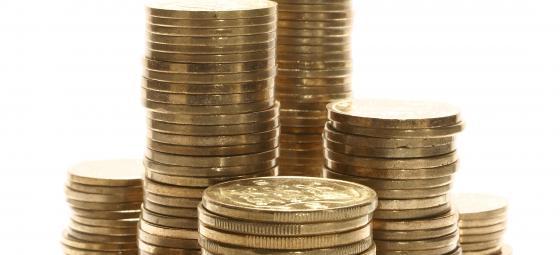 Mynt på hög. Foto: Colourbox