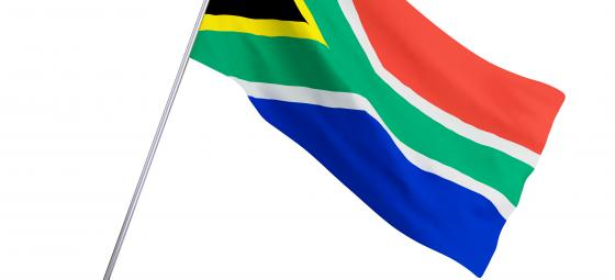 Sydafrikas flagga. Illustration: Colourbox