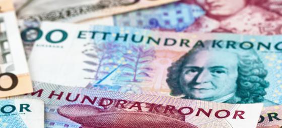 Utspridda svenska sedlar. Foto: Colourbox