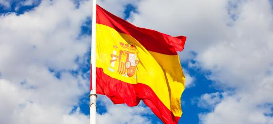 Spanska flaggan Foto: Colourbox