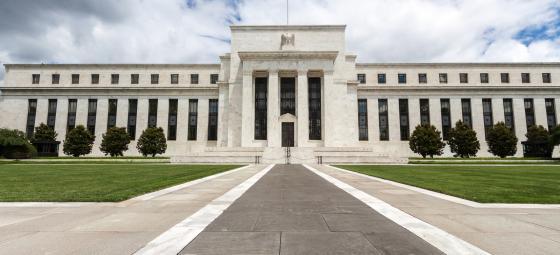 """Den amerikanska centralbanken, Federal Reserves - eller bara """"Feds"""", huvudbyggnad i huvudstaden Washington DC. Foto: Colourbox"""