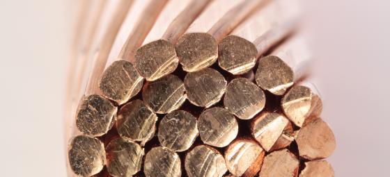 Koppar i kabel. Foto: Colourbox