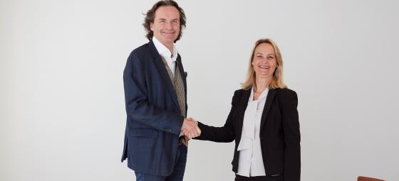 Elons vd Stefan Lebrot och Electras vd Anneli Sjöstedt. Foto: Elon