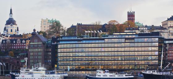 Glashuset vid Slussen i Stockholm