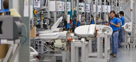 Geberits produktionsanläggning på hemmaplan i Rapperswill-Jona i Schweiz. Foto: Geberit